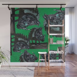 Rhinoceros on wheels Wall Mural