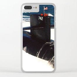 USS WYOMING (SSBN-742) Clear iPhone Case
