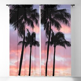 Palm Trees and Sunset Blackout Curtain