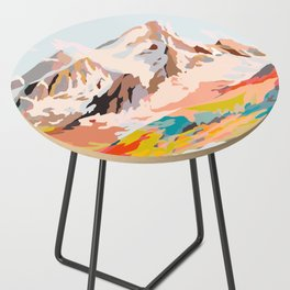 glass mountains Side Table