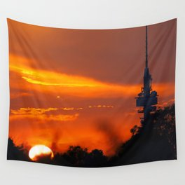Urban sunsets Wall Tapestry