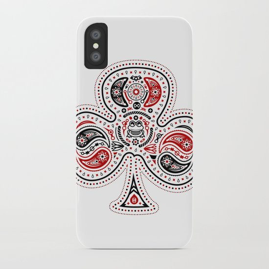 83 Drops - Clubs (Red & Black) iPhone Case