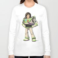 buzz lightyear Long Sleeve T-shirts featuring Woody Lightyear (colour) by Other People's Characters