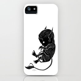 Little Devil (black version) iPhone Case