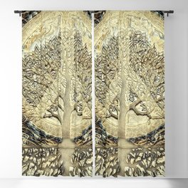 Tree of Life Peace on Earth Blackout Curtain