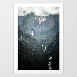 Waterfall in yosemite Art Print