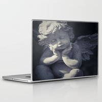 religious Laptop & iPad Skins featuring Cherub by Maria Heyens