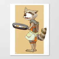 rocket raccoon Canvas Prints featuring Rocket Raccoon by Negative Dragon