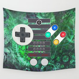Classic Steampunk Game Controller Wall Tapestry