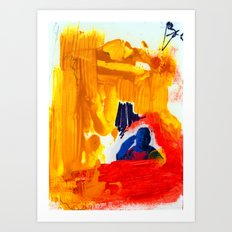 Study for Figure at the Base of a Crucifixion #3 Art Print