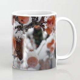 frozen berries in a snowy tree Coffee Mug