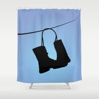 tim burton Shower Curtains featuring Big Fish - Tim Burton by Cap'tain Cyan