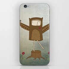 Little Owl Girl iPhone & iPod Skin