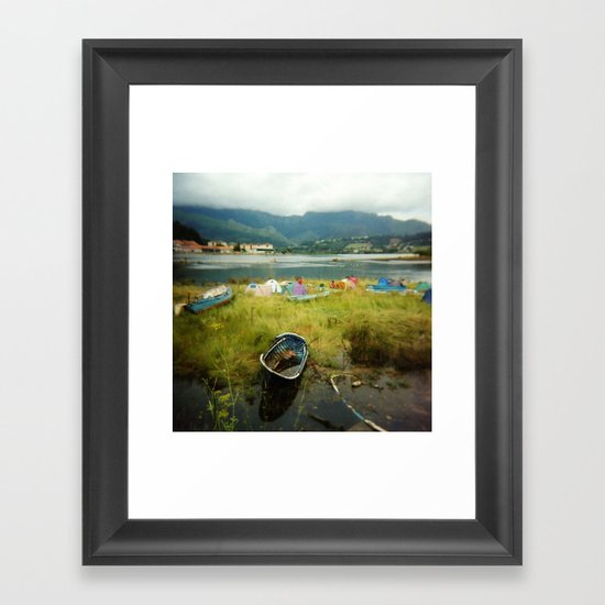 · Camping · Analogical Photography Colour Framed Art Print
