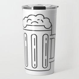 Glass Mug Craft Beer style Fashion Modern Design Print! Beer Pub Brewery Handcrafted Travel Mug