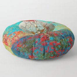 opium field Floor Pillow