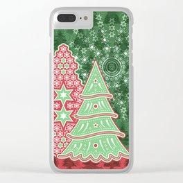 Xmastrees_04c Clear iPhone Case