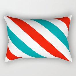 Diagonal Stripes Pattern: Barber Stripes Rectangular Pillow