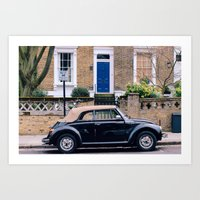 Camden Neighbourhood in London Art Print