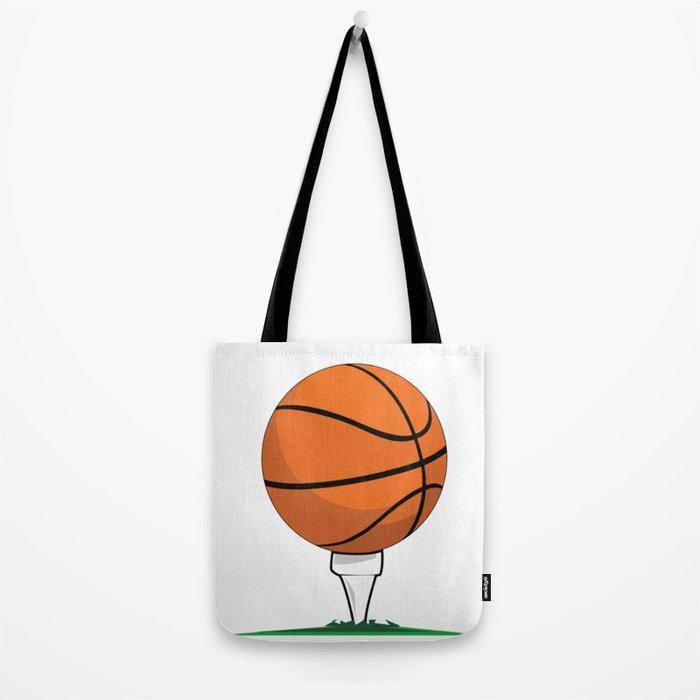 Basketball Tee Tote Bag
