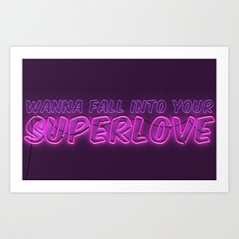 SuperLove / Charli XCX Art Print