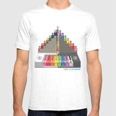Kawaii Speak Visual : Design Digital  White MEDIUM Mens Fitted Tee