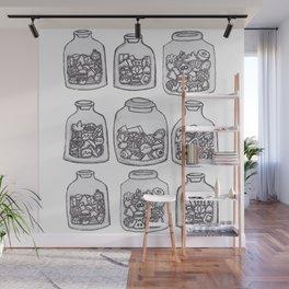 Jars Of Stuff Wall Mural