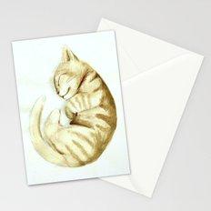 Sleeping kitty Stationery Cards