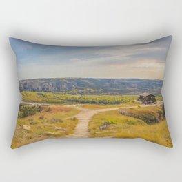 Badlands Overlook, Theodore Roosevelt NP, ND 28 Rectangular Pillow