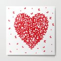 Heart - summer card design, red butterfly on white background by ekaterinap