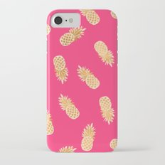 Gold Pineapples Tropical Pink Slim Case iPhone 7