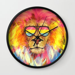 The Pan Lion Pride Wall Clock