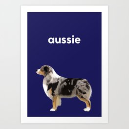 Australian Shepherd #5 Art Print