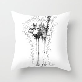 Electrocuted Cat by Carine-M Throw Pillow