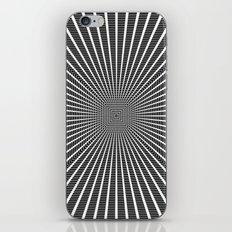 3D Room - White On Black iPhone Skin