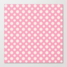 Daisies on Pink Canvas Print
