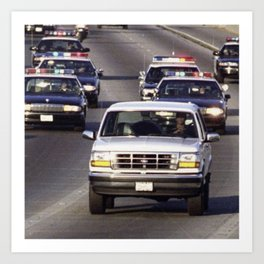 OJ Simpson Car Chase Art Print
