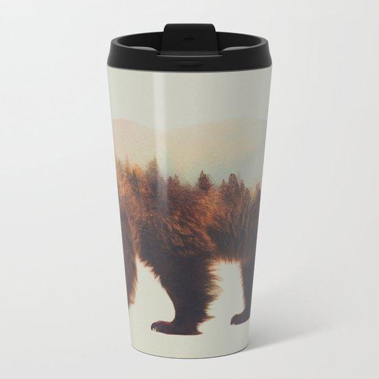Norwegian Woods: The Brown Bear Metal Travel Mug