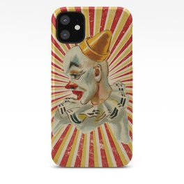 Scary vintage circus clown iPhone Case