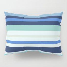 Pleasant strip for summer mood. Sea breeze Pillow Sham