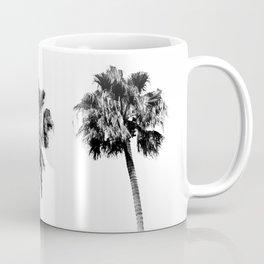 Black + White Palm Trees Coffee Mug