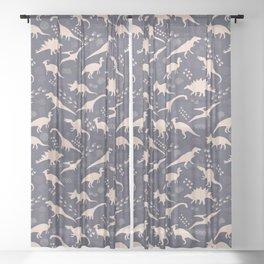 Dinos, tracks & petroglyphs Sheer Curtain
