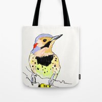 dot Tote Bags featuring Dot by fuglsangasong