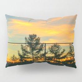 Fence Line Trees Pillow Sham