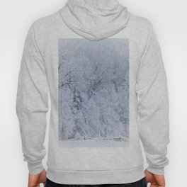 First Snow Fall Fresh Snow on Trees Nature Photography ~ Winter Hush Hoody