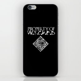 Maze Runner Property of Wicked iPhone Skin