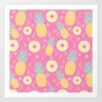 Pink Pinapple Art Print