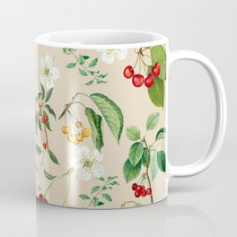 Cherries On Beige Background Coffee Mug