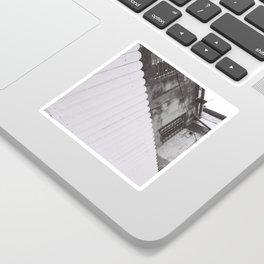 diagonal fence Sticker