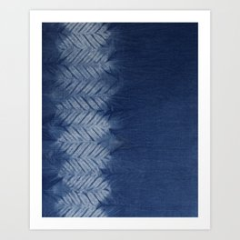 Shibori Chevron Stripe Art Print